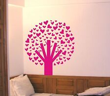 Tree of Hearts Wall Decal large removable sticker decor mural kids teen nursery