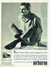 PUBLICITE ADVERTISING 096  1962  Airborne  siège fauteuil Yearling dossier bas