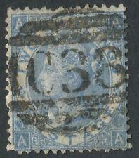 GB utilizzati in Perù 1867 2S AZZURRO AA, PERF difetti, deselezionare verticale C38 di Callao