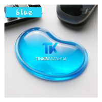 Gel Wrist Wavy Mouse Pad Support for Desktop Laptop Computer Accessories Blue