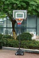 Basketball Net Hoop Backboard Portable Wheels Adjustable Stand Free Standing