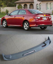 Factory Style Spoiler Wing ABS for 2009-2013 Toyota Corolla 4dr Sedan LED Light