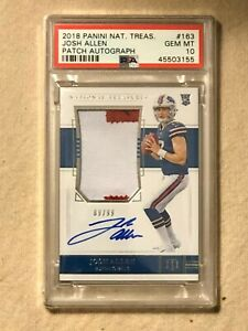 Josh Allen 2018 Panini National Treasures  RPA #/99 PSA 10
