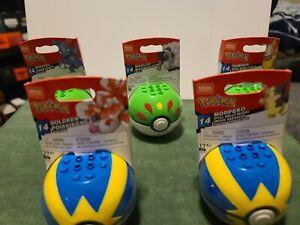 Mega Construx Pokemon Poke Ball 5-Pack Construction Set Series 14 Brand New Toy
