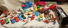Lot 49 Assorted Disney Pixar Cars Planes & Transport Vehicles & Carry Case