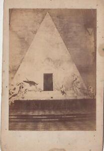 foto photo albumina cabinet card  monumento funebre ad Antonio Canova 1880 c.a.