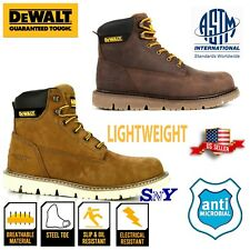 DeWalt Steel Toe Slip Oil Resistant Leather work Boots ASTM EH Antimicrobial