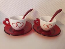 "SET 2 TASSES A CAFE ""LOVE"" de GUZZINI NEUVES"