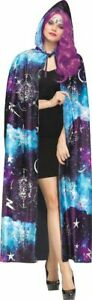 Purple Blue Cosmic Celestial Cape Witch Sorceress Womens Costume Accessory NEW