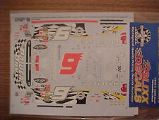 "2003 BILL ELLIOTT #9 DODGE ""POWER DAYS""  1/24-1/25 SCALE SLIXX WATER SLIDE DECAL"