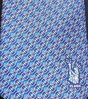 EUC Pineda Covalin Mexico 100% Silk Blue 75 Anniversary Warrior Headdress Tie