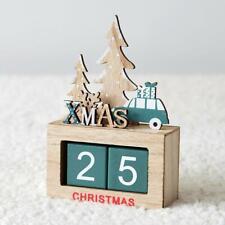Wooden Christmas Tree Calendar Countdown Advent Xmas Number DIY Gifts Box Decor