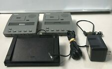 LOT OF 2  DICTAPHONE 3740 TRANSCRIBER WITH 1 FOOT PEDAL & 1 POWER ADAPTER WORKS