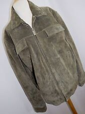 Wilsons Leather M. Julian Women's Brown Suede Leather Full Zip Jacket Size Large