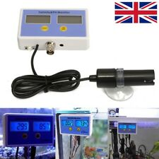 Aquarium Electronic Salinity Ph Value On-Line Meter Tester +Monitor 2 Probe 24W