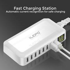 USB CHARGING STATION WALL CHARGER POWER BANK UNIVERSAL 8 MULTI PORT HUB ILEPO