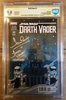 Darth Vader #1 Skottie Young Baby Variant CBCS 9.8 Signed by David Prowse