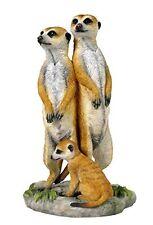 "8.75"" Meerkat Family Nature Wildlife Animal Statue Collectible Wild Sculpture"