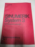 Siemen Sinumerik 3 Beschreibung Bedienungsanleitung Fräsmaschine Drehmaschine