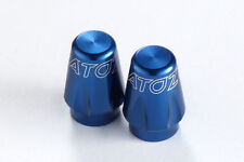 2X Bike Bicycle Tire Schrader Valve Caps (American Type) MTB Tyre Alloy- Blue
