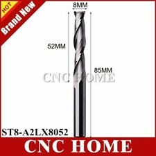1pc 8*52mm Carbide End Mill Wood Milling Cutters 2 Double Two Flutes Spiral CNC