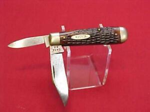 Vtg CASE XX Pocket Knife 6325 1/2 No Dots Red Grips