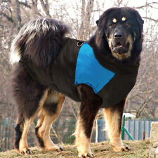 Extra Large Dog Clothes Winter Warm Dog Coat Waterproof Apparel Vest 6XL Blue