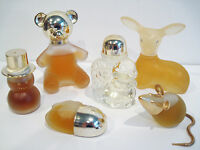 Vintage Avon Perfume Bottle Collection with Original Cologne