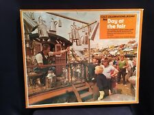 "C1950 Ilea Galt Celebration Wooden Jigsaw Puzzle 99pc Complete ""Day at the Fair"""