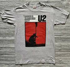 1980s Vintage U2 1984 Under A Blood Red Sky Tour Concert Tshirt Tee Small