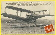 cpa Cachet 1908 Aviation GONESSE (Val d'Oise) AÉROPLANE Ernest et Paul ZENS