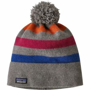 Patagonia 70% Recycled Wool Vintage Town Bobble Beanie Hat. Men's Women's Unisex