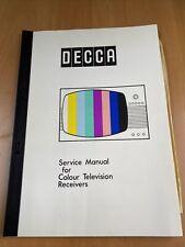 More details for decca service manual colour television cs1910 cs2213 - l125