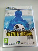 Championship Manager Tu Trainer 2010 Jeu De para PC Dvd-Rom Edition Espagne 3T