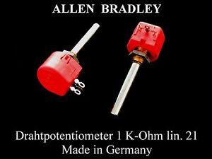 Allen Bradley Draht Potentiometer 1 K-Ohm lin. Potentiometer Passive Bauelemente