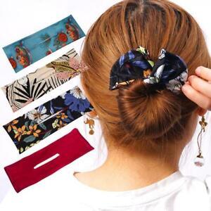 Hair Bands Women Summer Knotted Wire Headband Print Deft Bun 6 Colors