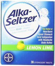 Alka-Seltzer Effervescent Tablets Lemon Lime Flavored 36 Tablets Each