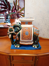 More details for antique elephant garden seat (free uk mainland p+p at asking price) ref-2747