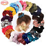 Women Silky Satin Hair Scrunchies Elastic Hair Bands Ponytail Hair Tie Rope Lot