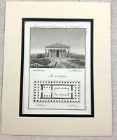1821 Antique Engraving The Parthenon Greece Ancient Greek Temple Architectural