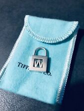 Tiffany co Silver padlock LETTER W RETIRED 925 AG