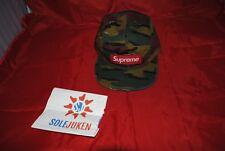 850e31bd7dc SUPREME Military Camp Cap Jigsaw Camo NWT