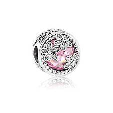 New Genuine Pandora Magnolia Enamel & Pink CZ Charm 792055PCZ