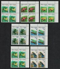 Vietnam WWF Frogs 7v Corner Blocks of 4 MNH SG#1599-1605 MI#2344-2350