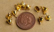 1:12 Colore ORO Decorazione Di Natale Campane (10) Casa delle Bambole Accessorio in miniatura
