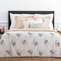 YVES DELORME | ROMANTIC DUVET COVER TC 300 EGYPTIAN COTTON 60% OFF RRP