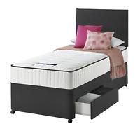 Single Divan Bed Set 3FT Drawer Option With Mattress for Kids Adults & Children