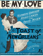 """SHEET MUSIC -2BE MY LOVE"""" - MARIO LANZA FOR """"THE TOAST OF NEW ORLEANS"""" (1950)"""