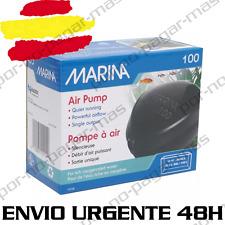 COMPRESOR DE AIRE MARINA 100 PARA ACUARIO GAMBARIO OXIGENADOR DIFUSOR