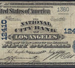 CA  1902 $50  ♚♚ LOS ANGELES, CALIFORNIA ♚♚   PCGS FINE 12    HARD TO FIND!!!